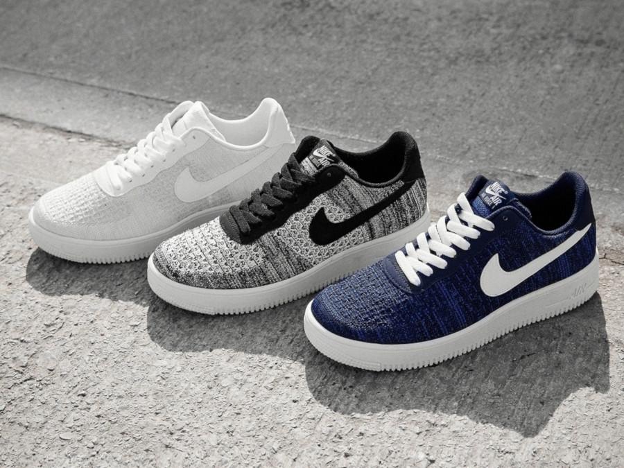air force 1 flyknit bleu et noir femme,Air Force Nike One